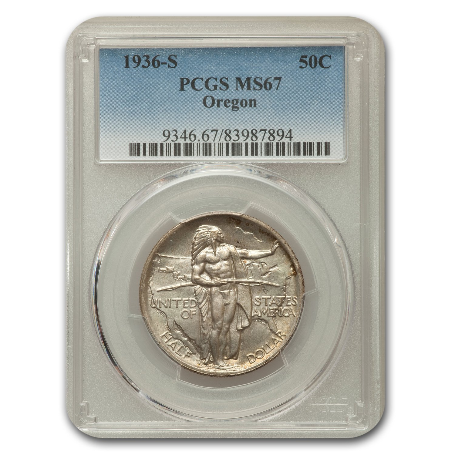 1936-S Oregon Trail Memorial Half Dollar MS-67 PCGS