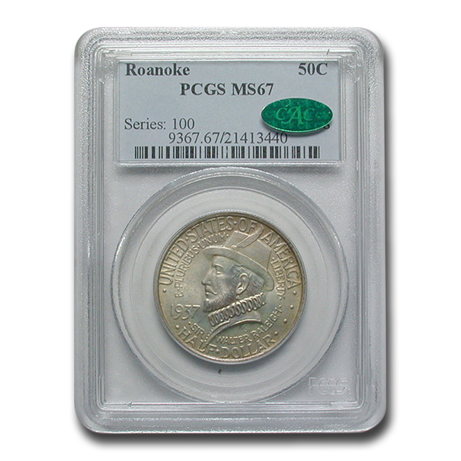 1937 Roanoke Half Dollar MS-67 PCGS CAC