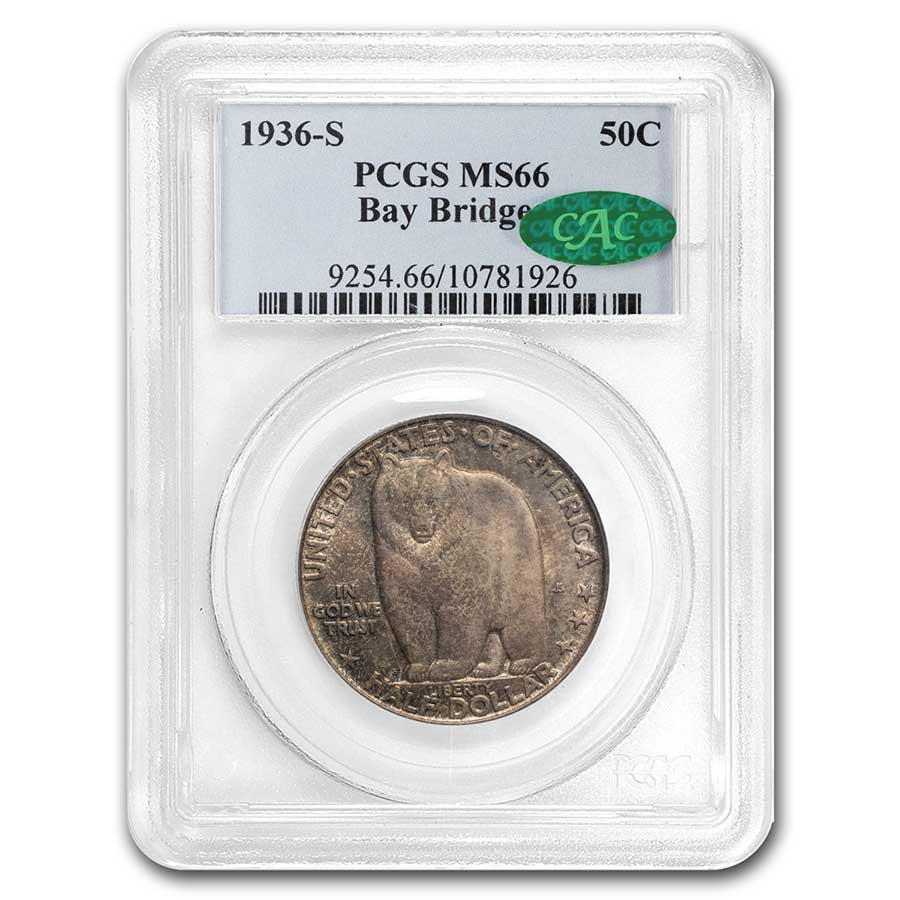 1936-S Bay Bridge Half Dollar MS-66 PCGS CAC