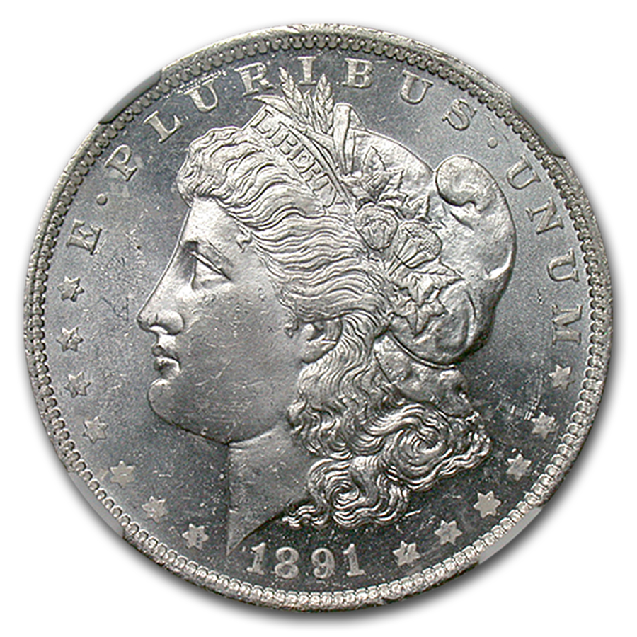 1891-O Morgan Dollar MS-64 DPL NGC