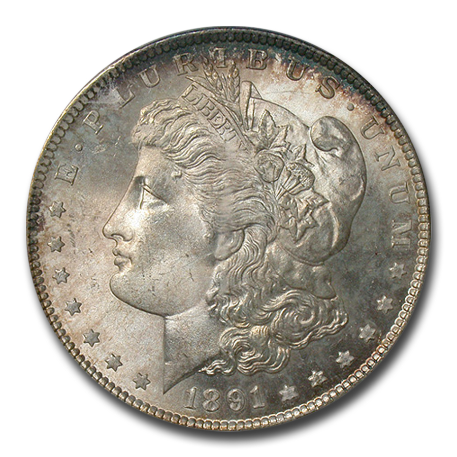 1891-S Morgan Dollar MS-66 PCGS