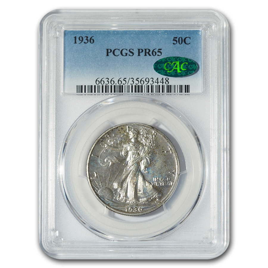 1936 Walking Liberty Half Proof-65 PCGS CAC