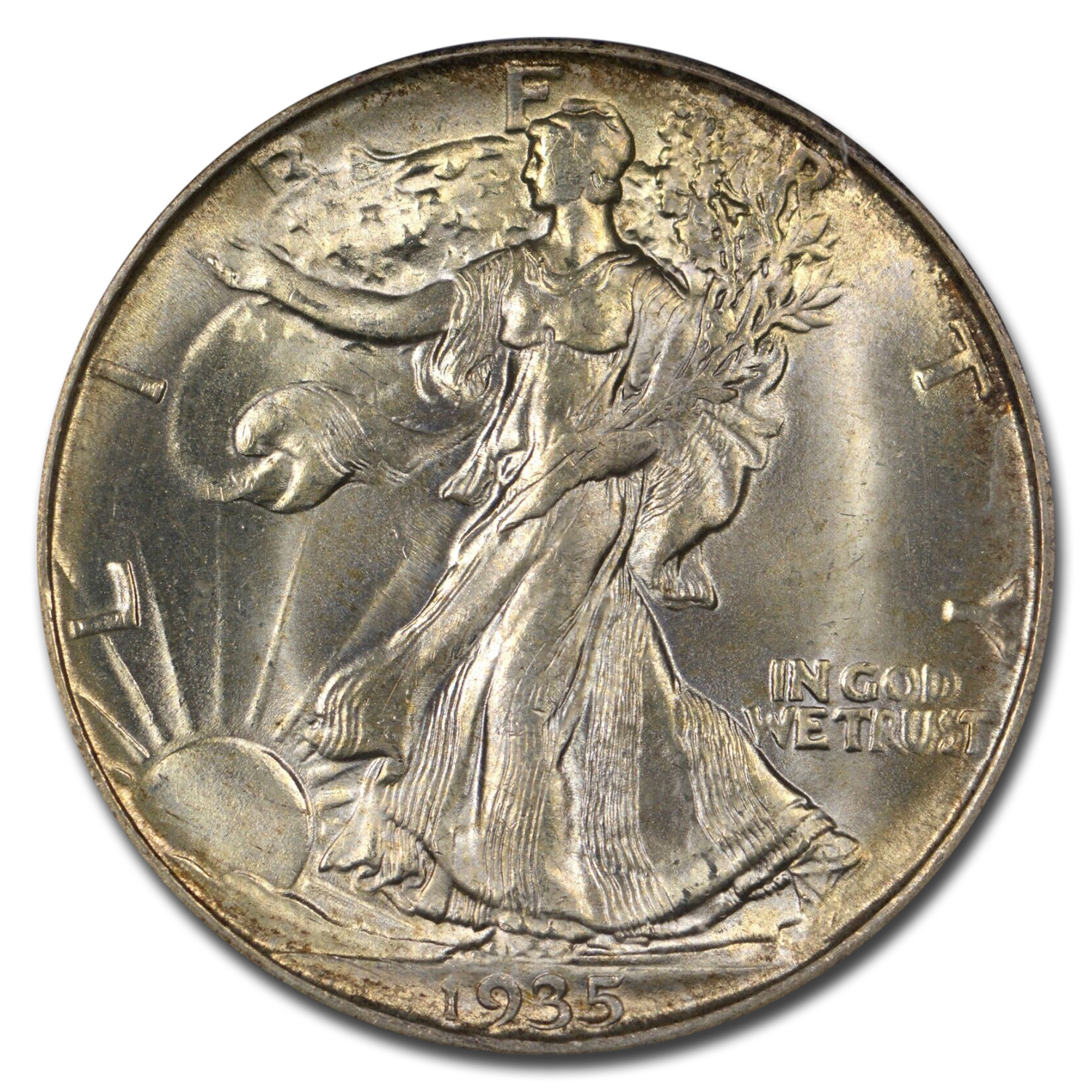 1935-D Walking Liberty Half MS-66 PCGS