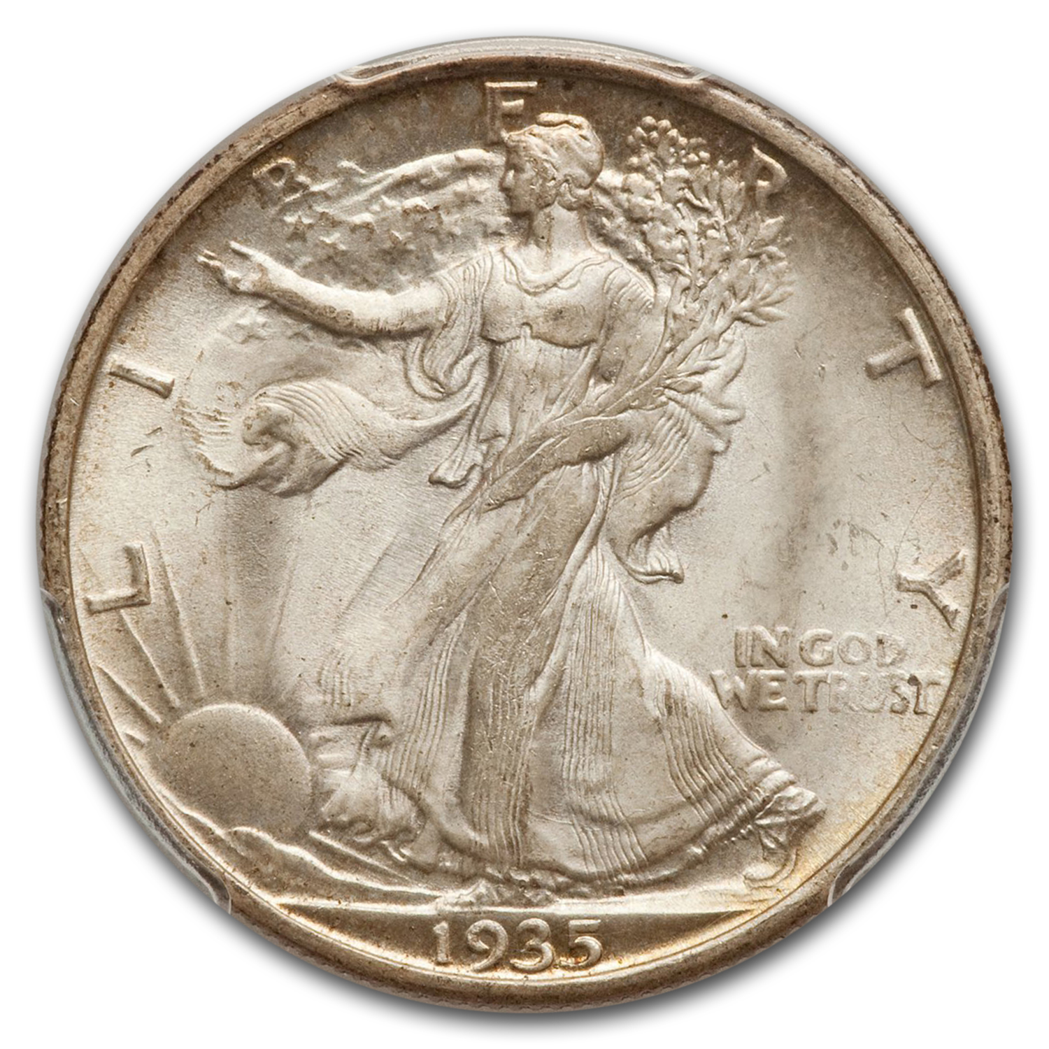 1935-S Walking Liberty Half MS-65 PCGS CAC