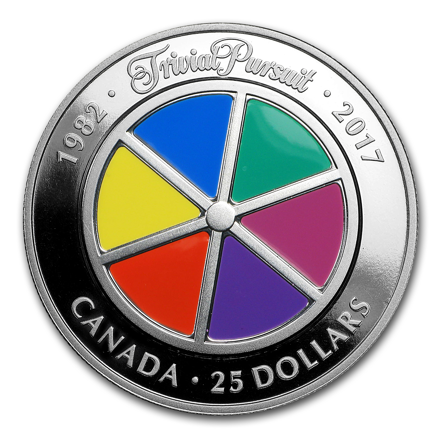 2017 Canada 1 oz Proof Silver $25 Trivial Pursuit