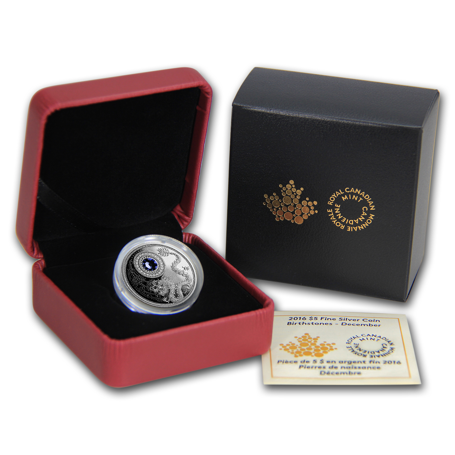 2016 Canada 1/4 oz Silver $5 Birthstones (December)