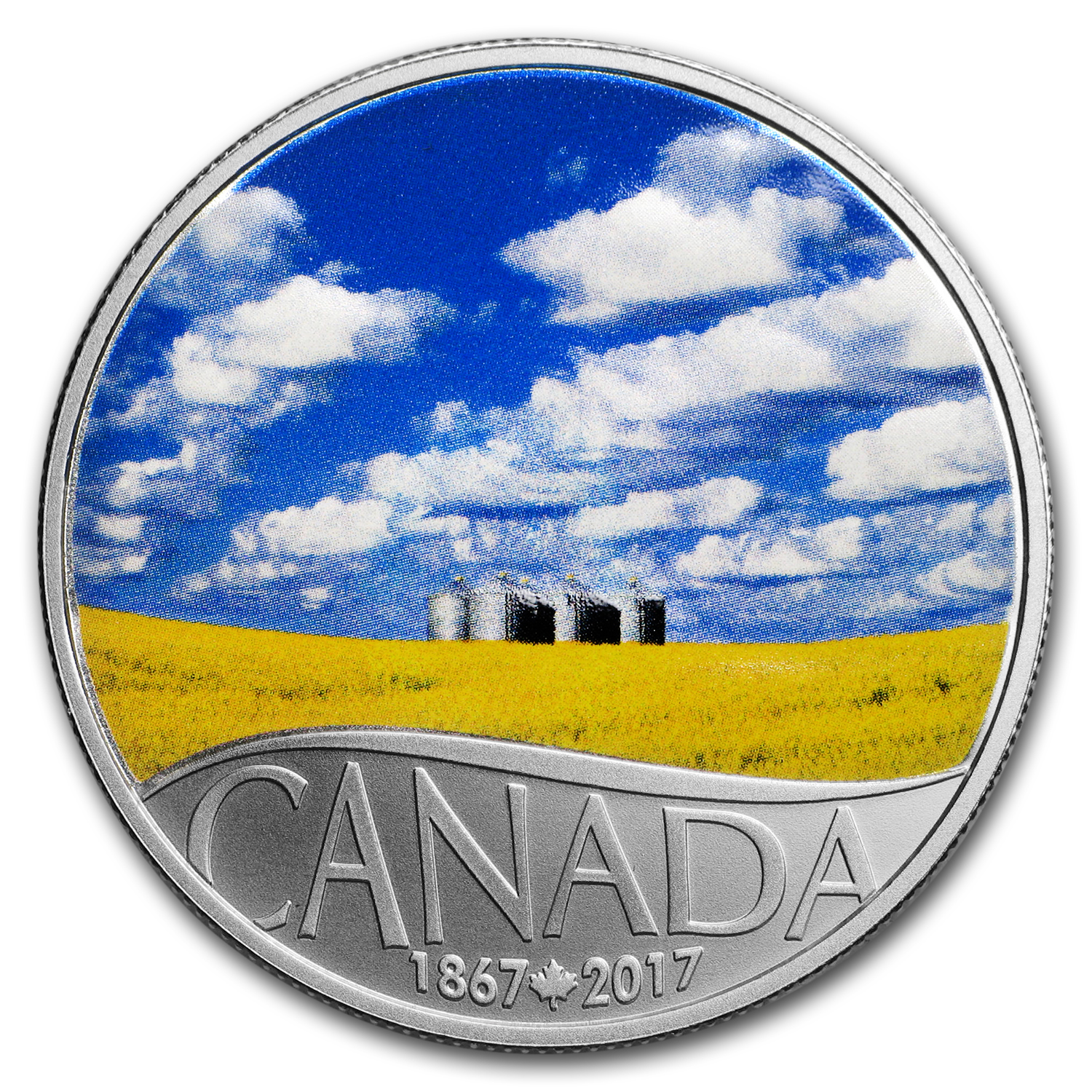 2017 Canada 1/2 oz Ag $10 Celebrating Canada's 150th Canola Field