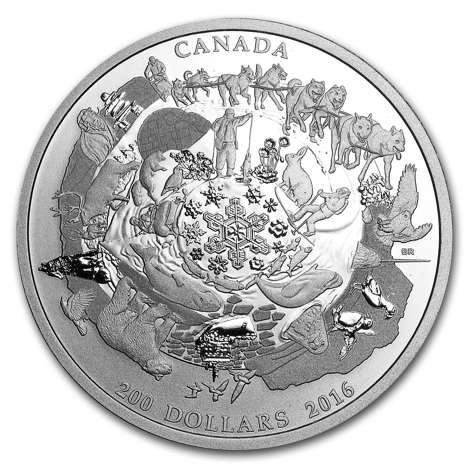 2016 Canada 2 oz Silver $200 for $200 Icy Arctic
