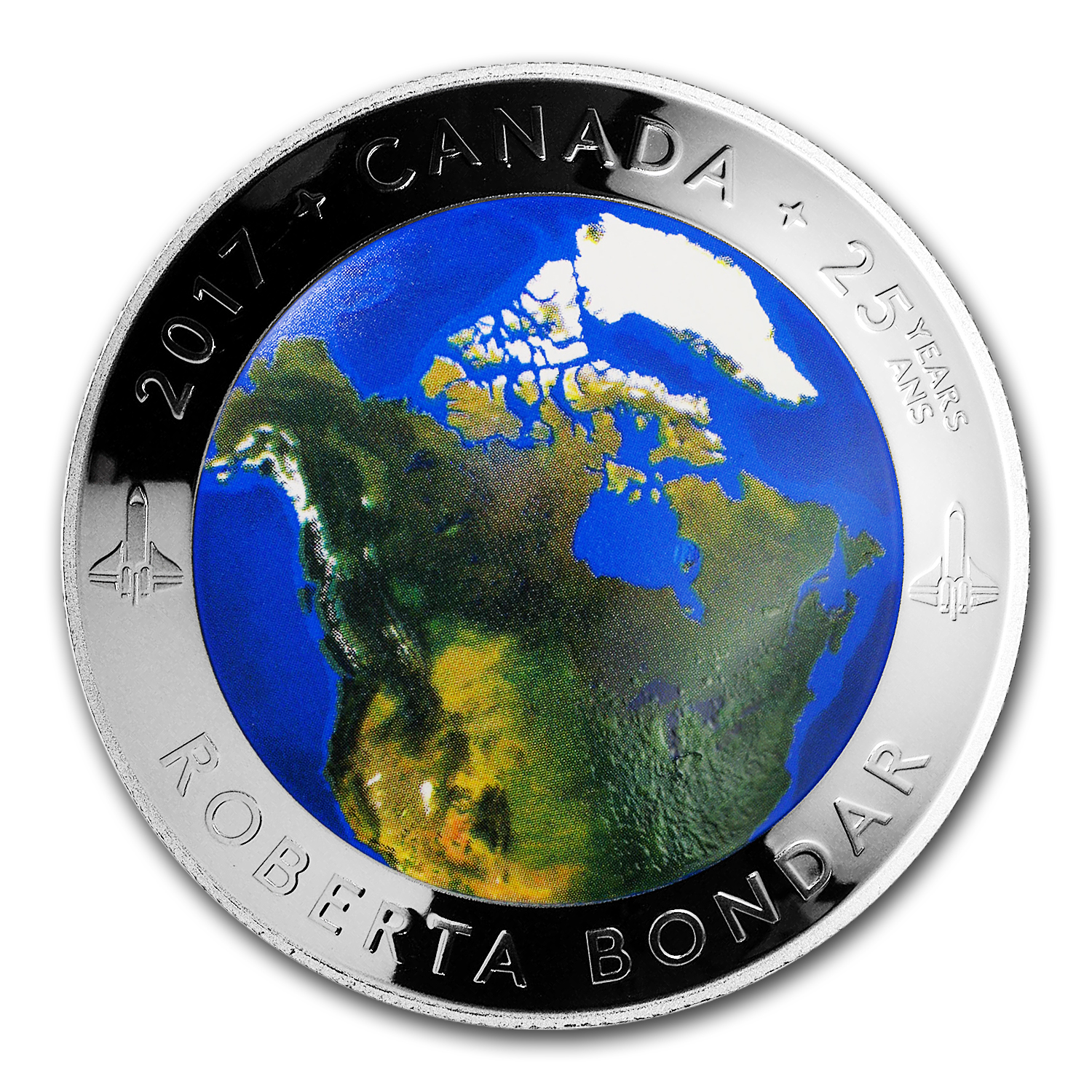 2017 Canada 1 oz Silver $25 A View of Canada from Space Proof