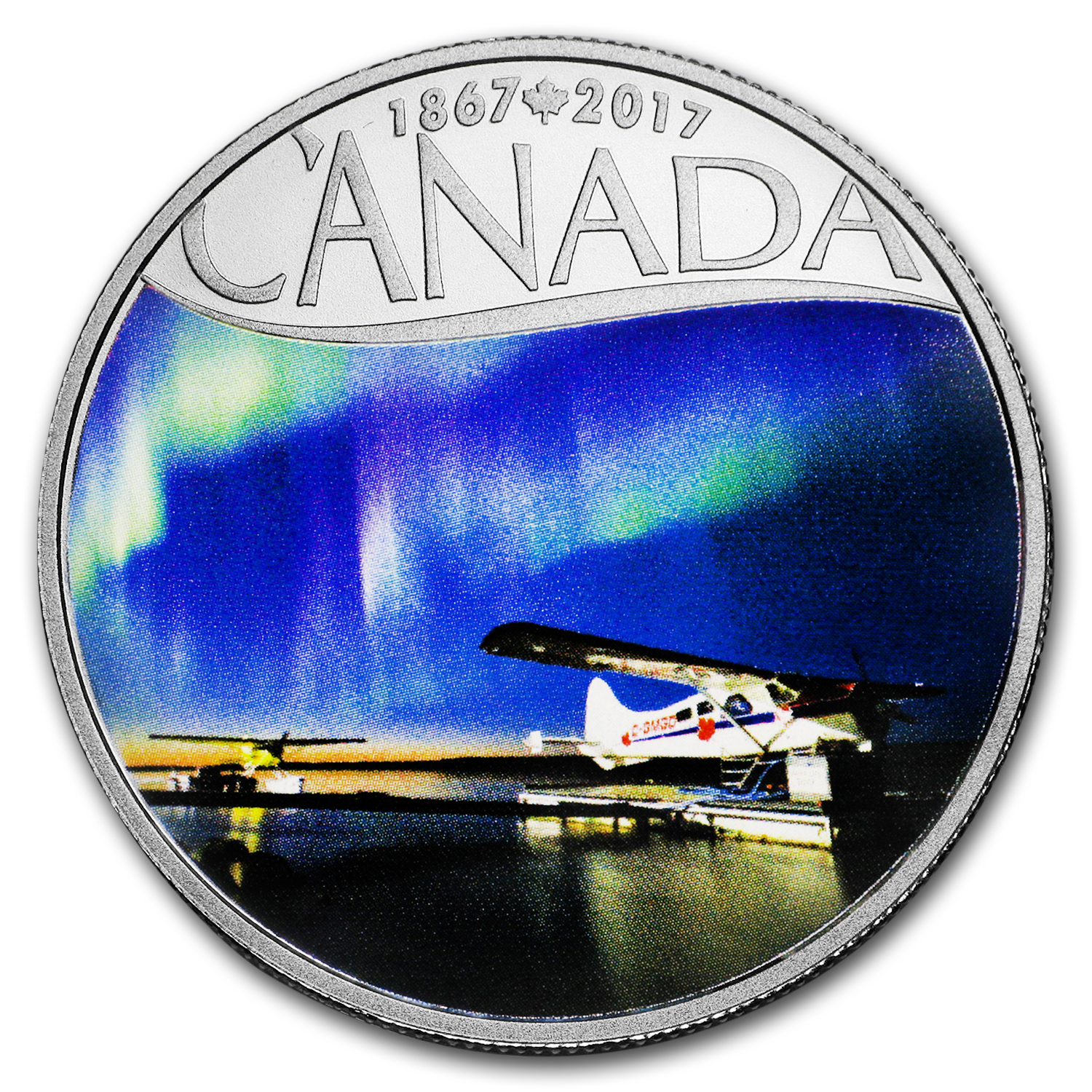 2017 Canada 1/2 oz Ag $10 Celebrating Canada's 150th Float Planes