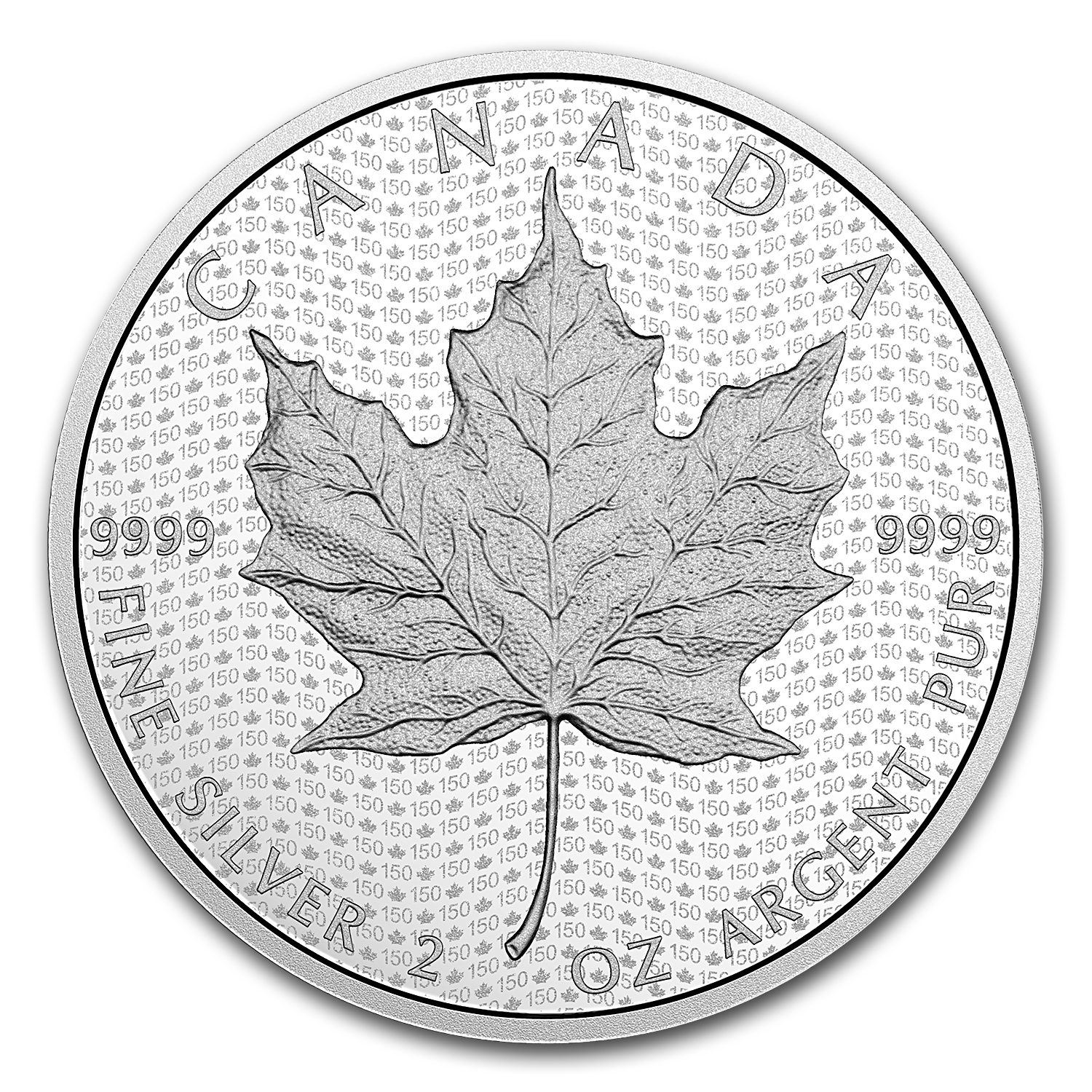 2017 Canada 2 oz Silver $10 Canada's 150 Iconic Maple Leaf Proof
