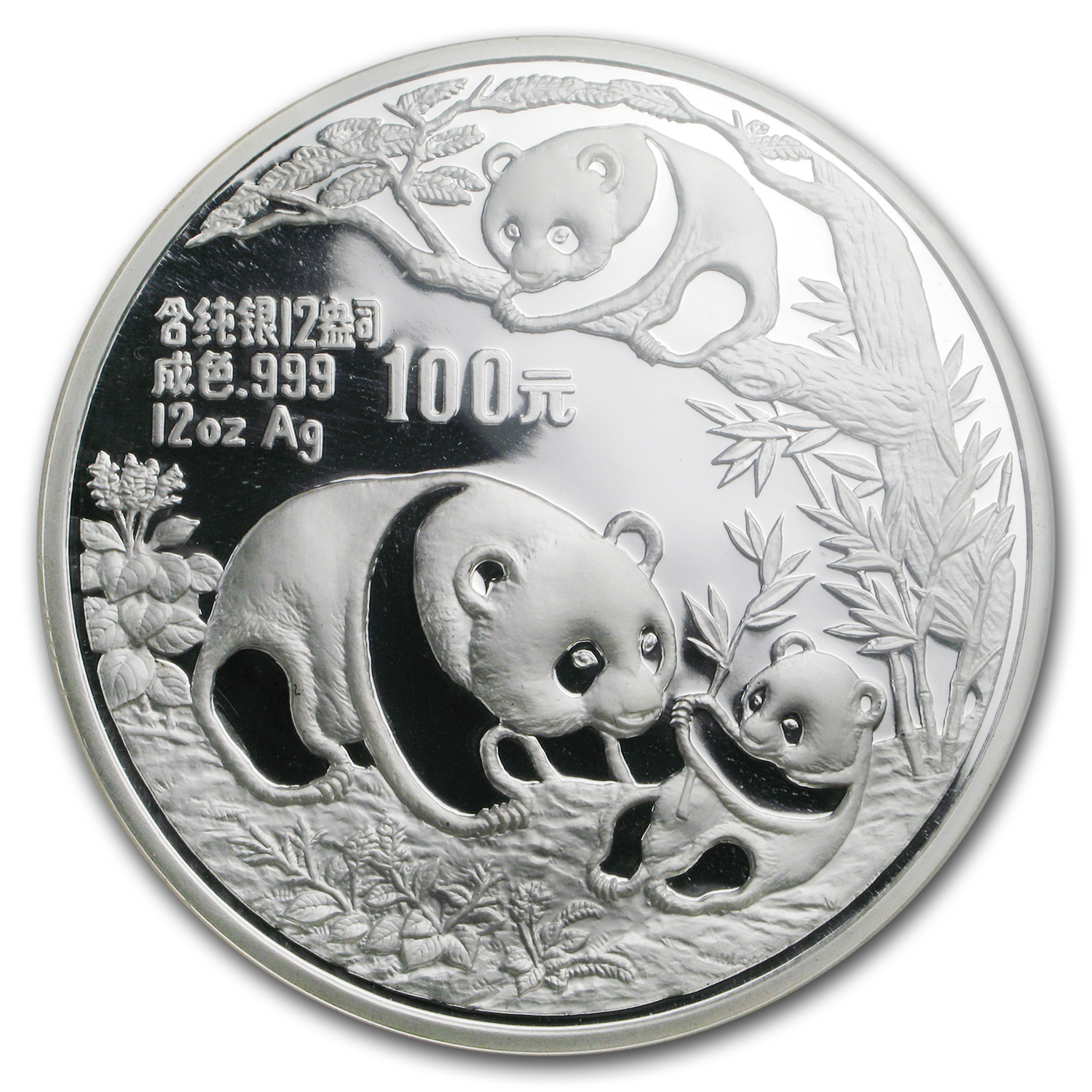 1991 China 12 oz Proof Silver Panda PF-69 NGC