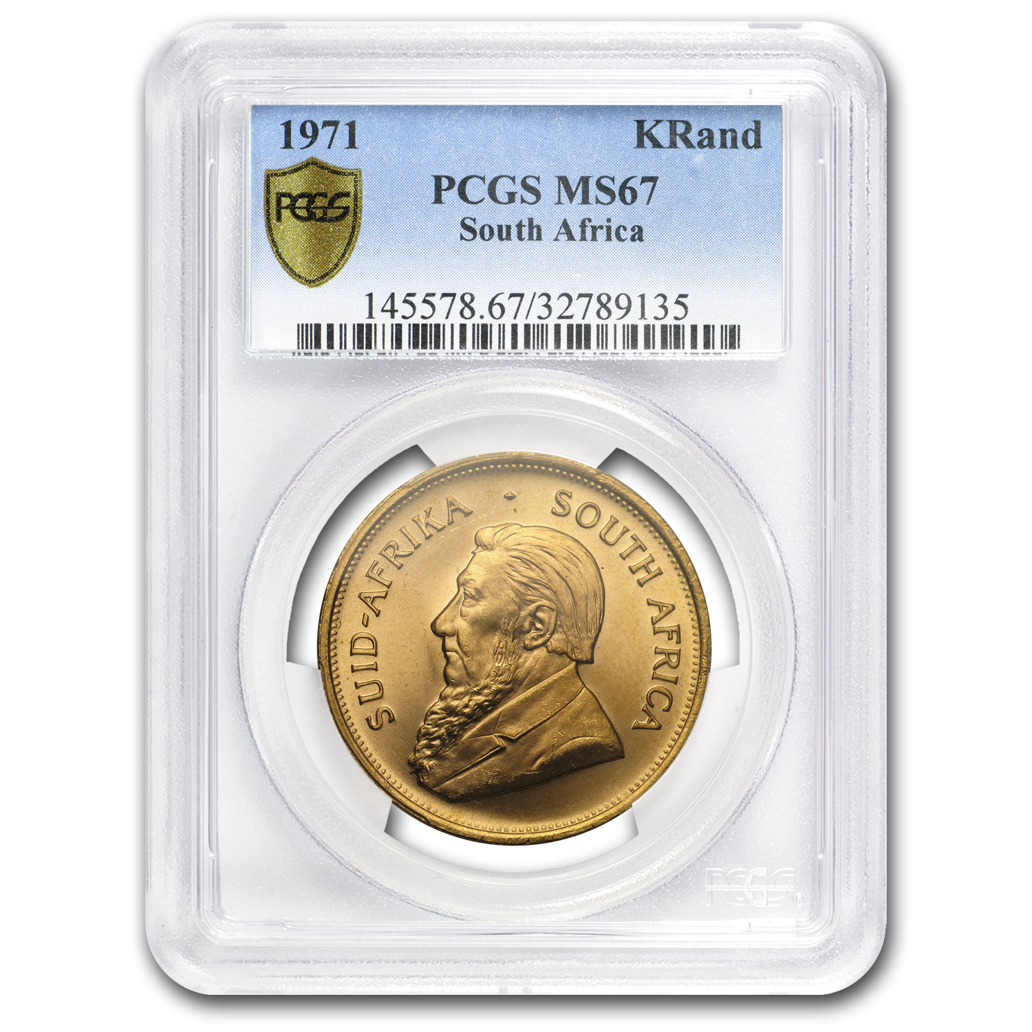 1971 South Africa 1 oz Gold Krugerrand MS-67 PCGS