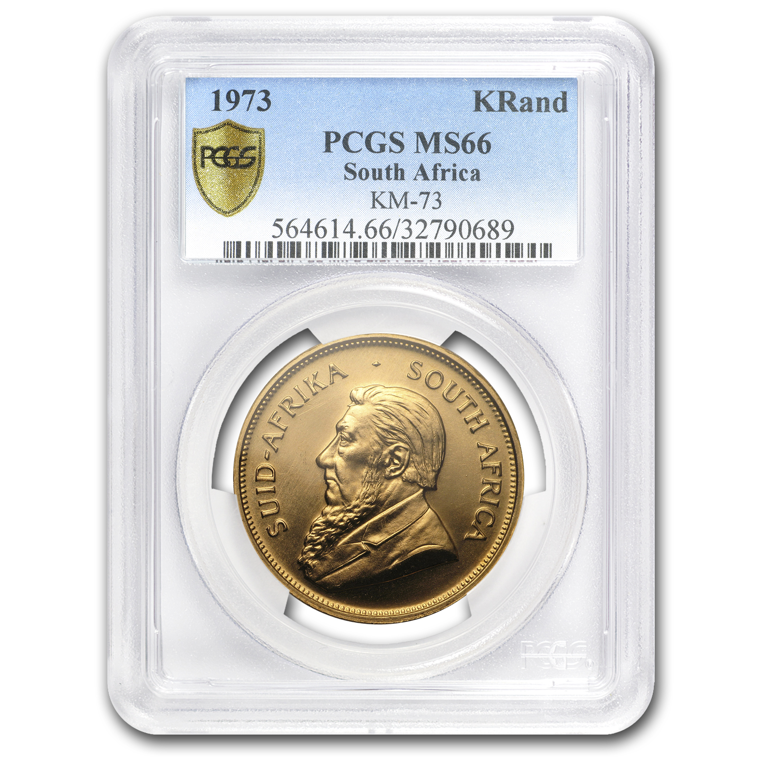 1973 South Africa 1 oz Gold Krugerrand MS-66 PCGS