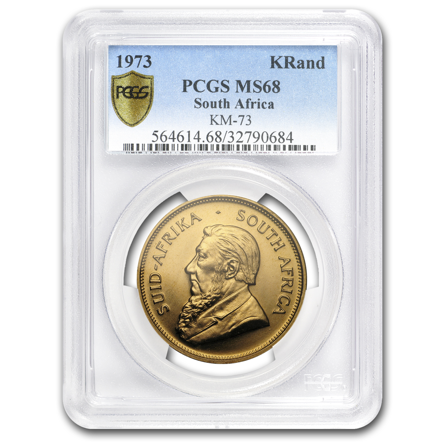 1973 South Africa 1 oz Gold Krugerrand MS-68 PCGS