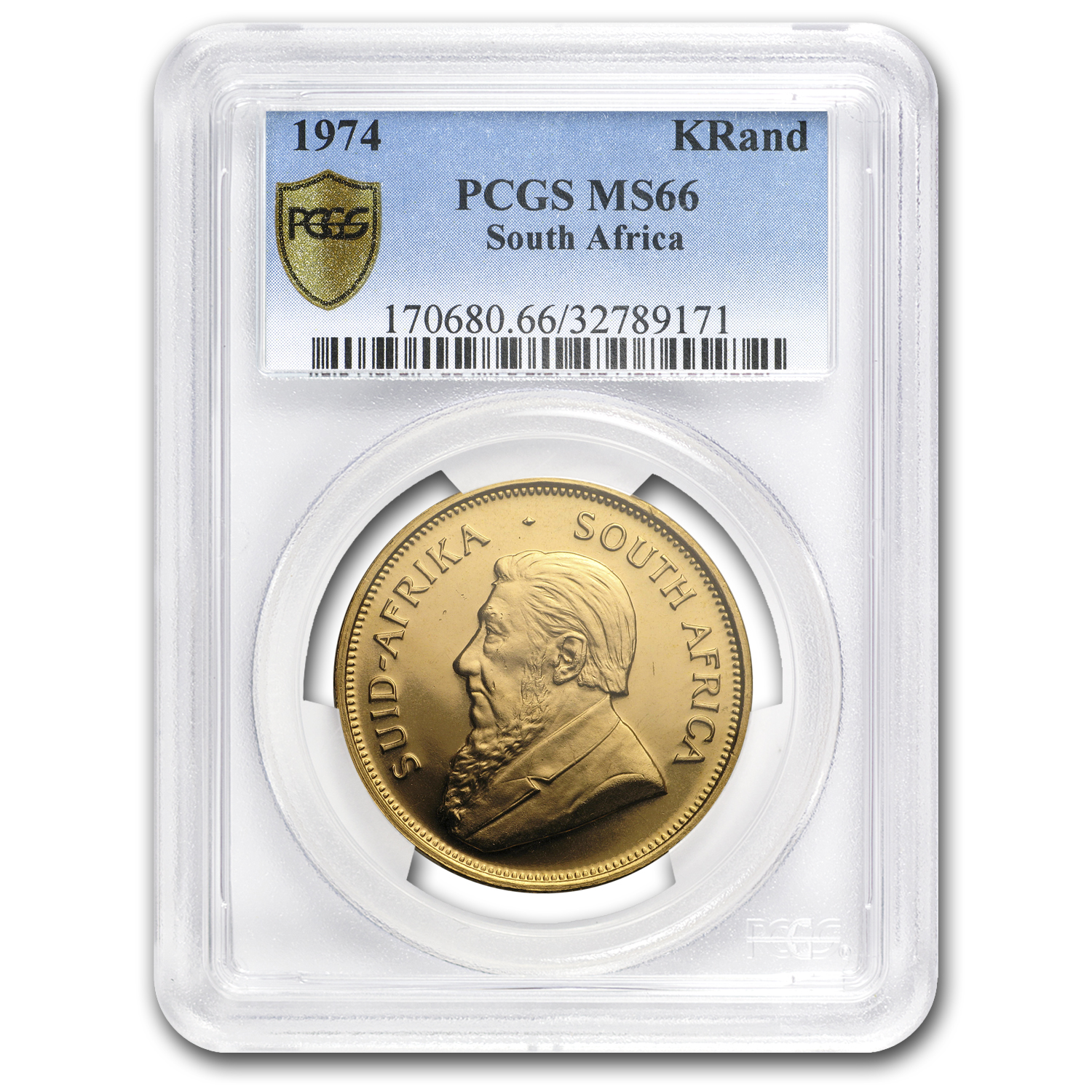 1974 South Africa 1 oz Gold Krugerrand MS-66 PCGS