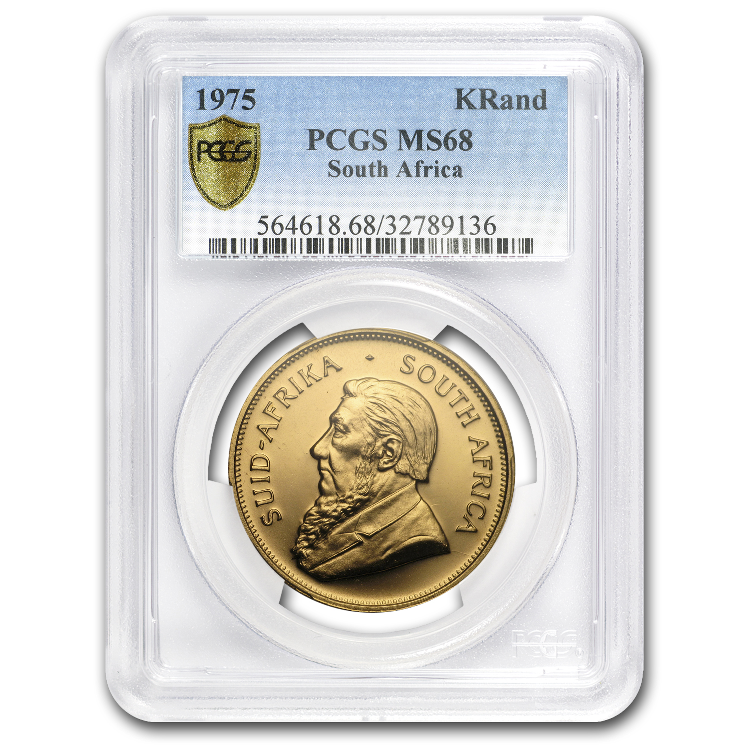 1975 South Africa 1 oz Gold Krugerrand MS-68 PCGS