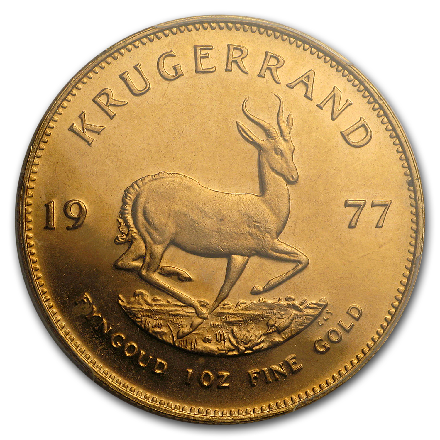 1977 South Africa 1 oz Gold Krugerrand MS-67 PCGS