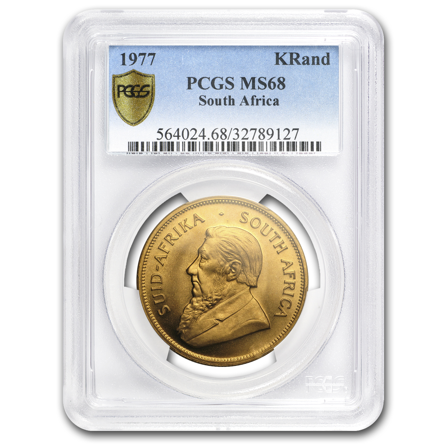 1977 South Africa 1 oz Gold Krugerrand MS-68 PCGS