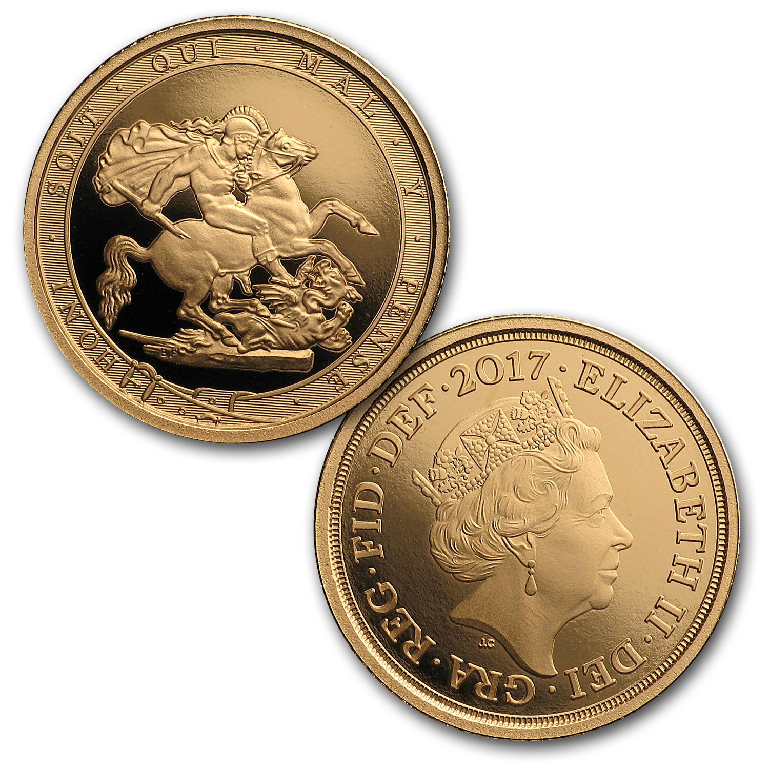 2017 Great Britain 5-Coin Gold Sovereign Proof Set