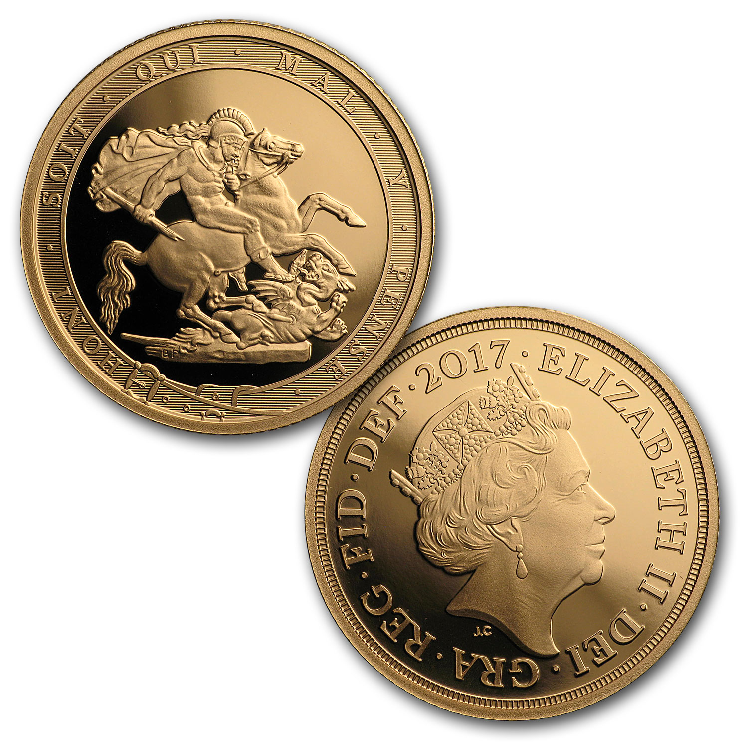 2017 Great Britain 5 Coin Gold Sovereign Proof Set