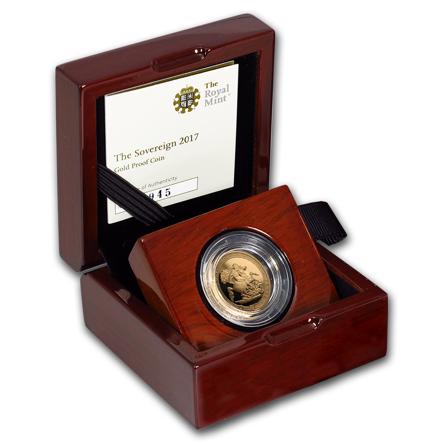 2017 Great Britain Gold Sovereign Proof (w/Box & COA)