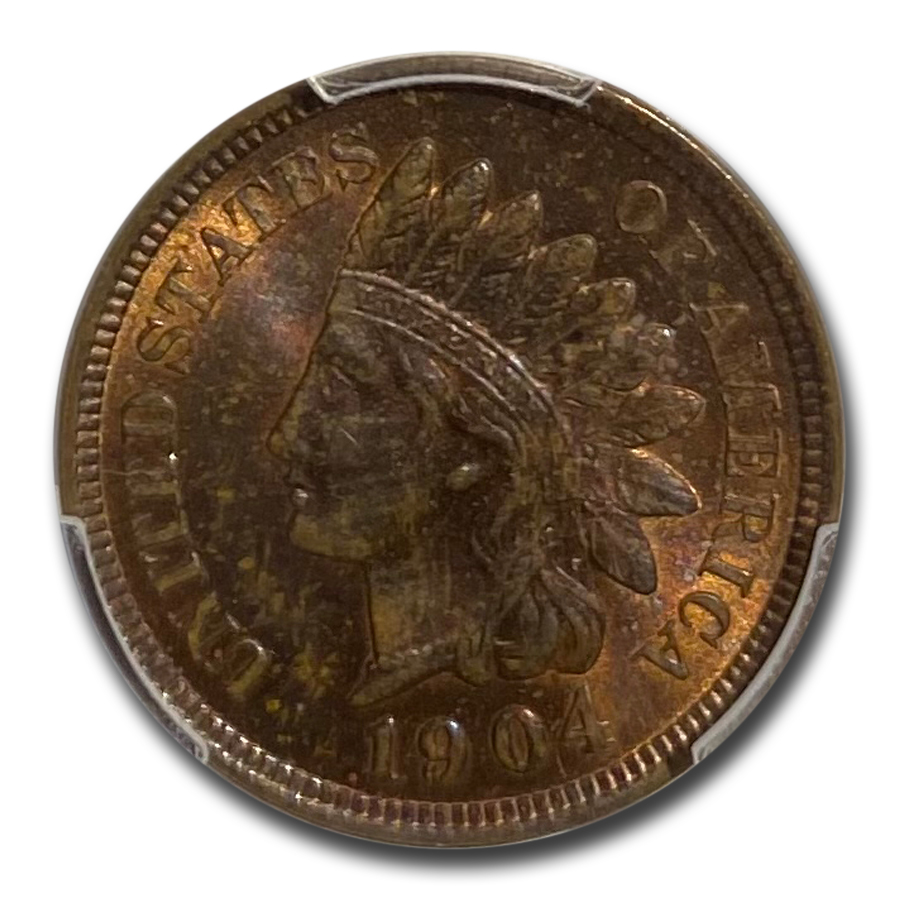 1904 Indian Head Cent MS-64 PCGS (Red/Brown)