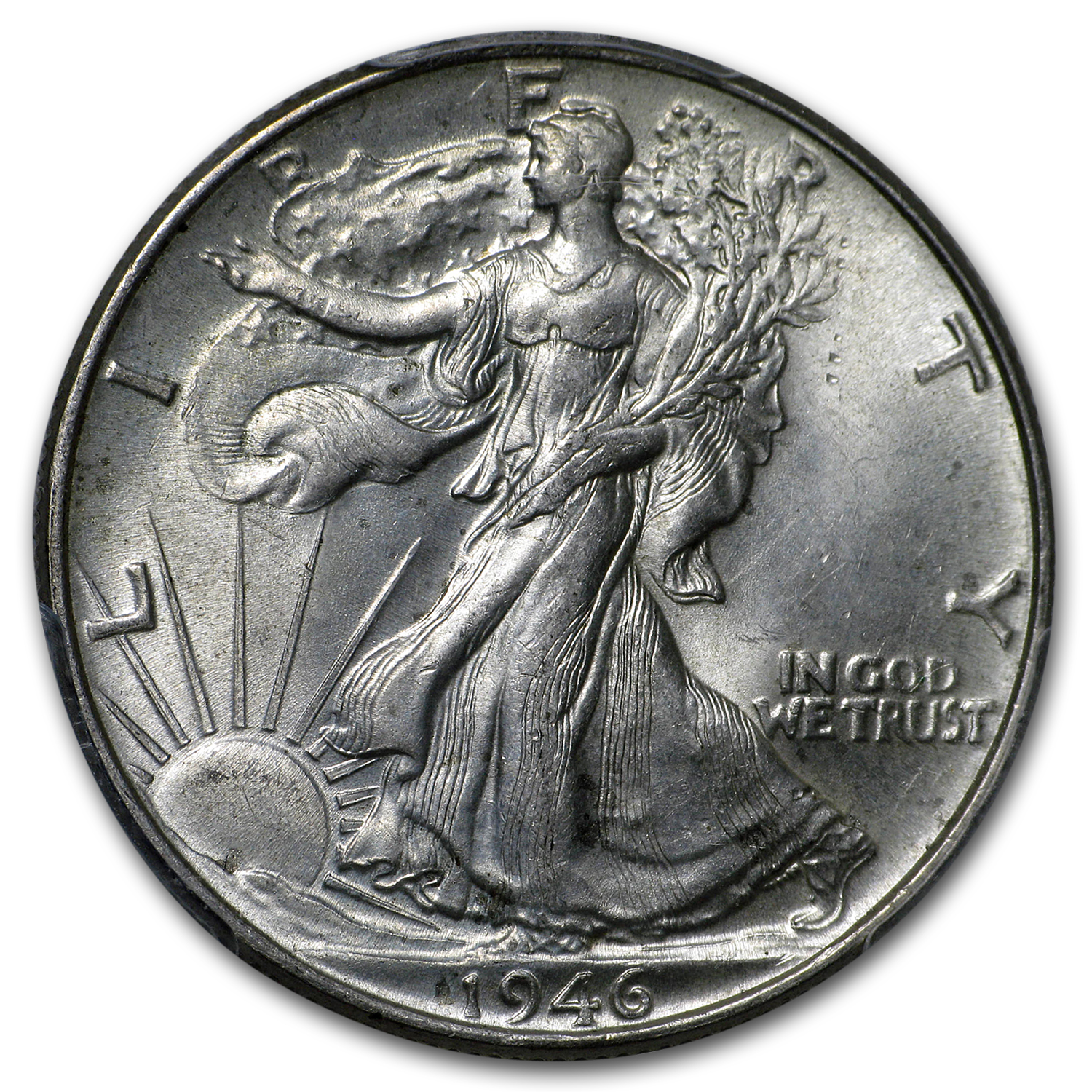1946 Walking Liberty Half Dollar Doubled Die Reverse MS-63 PCGS
