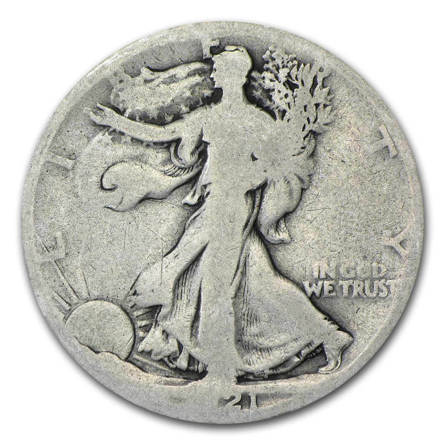 1921-D Walking Liberty Half Dollar AG