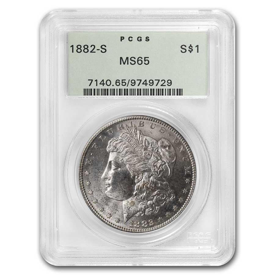1882-S Morgan Dollar MS-65 PCGS