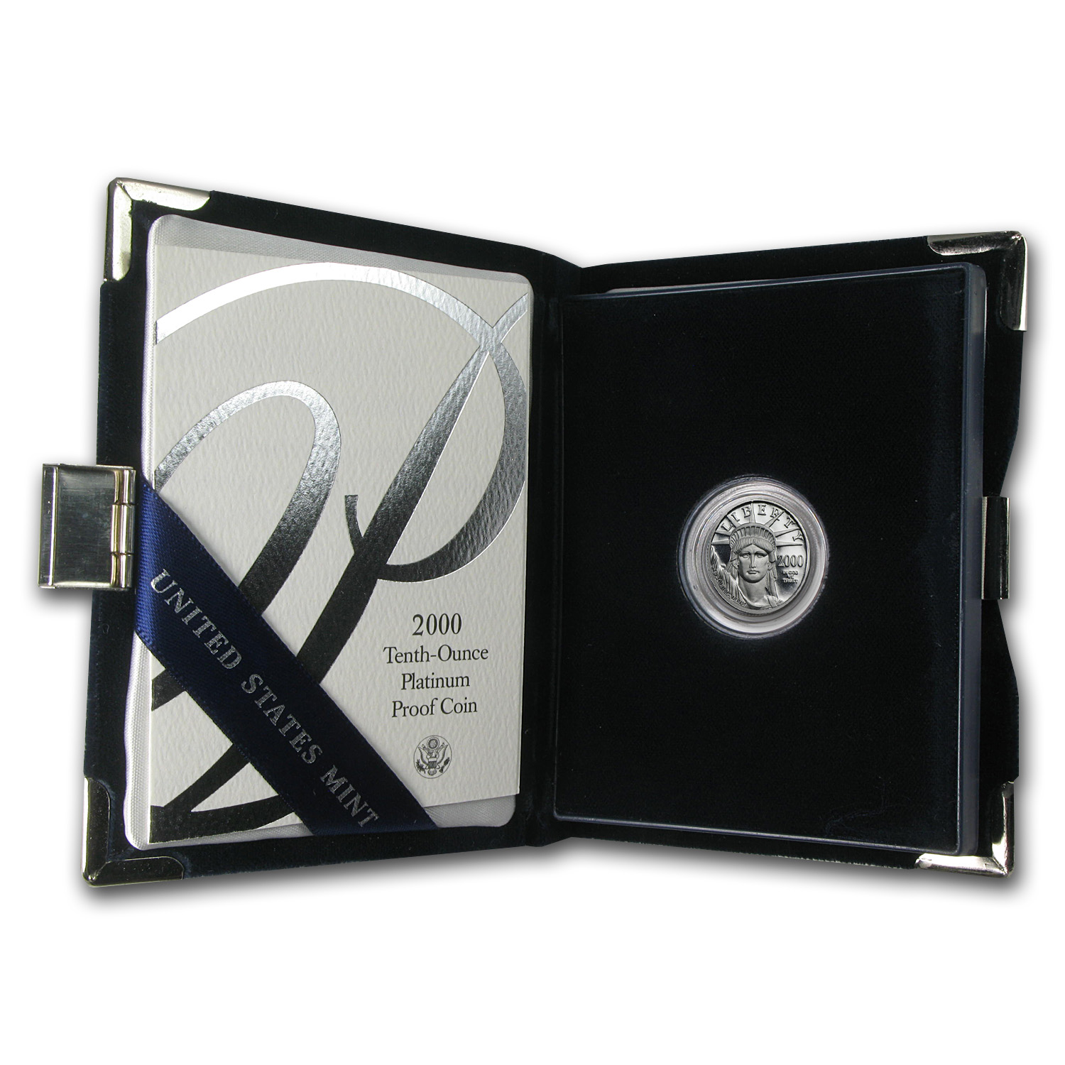 2000-W 1/10 oz Proof Platinum American Eagle (w/Box & COA)