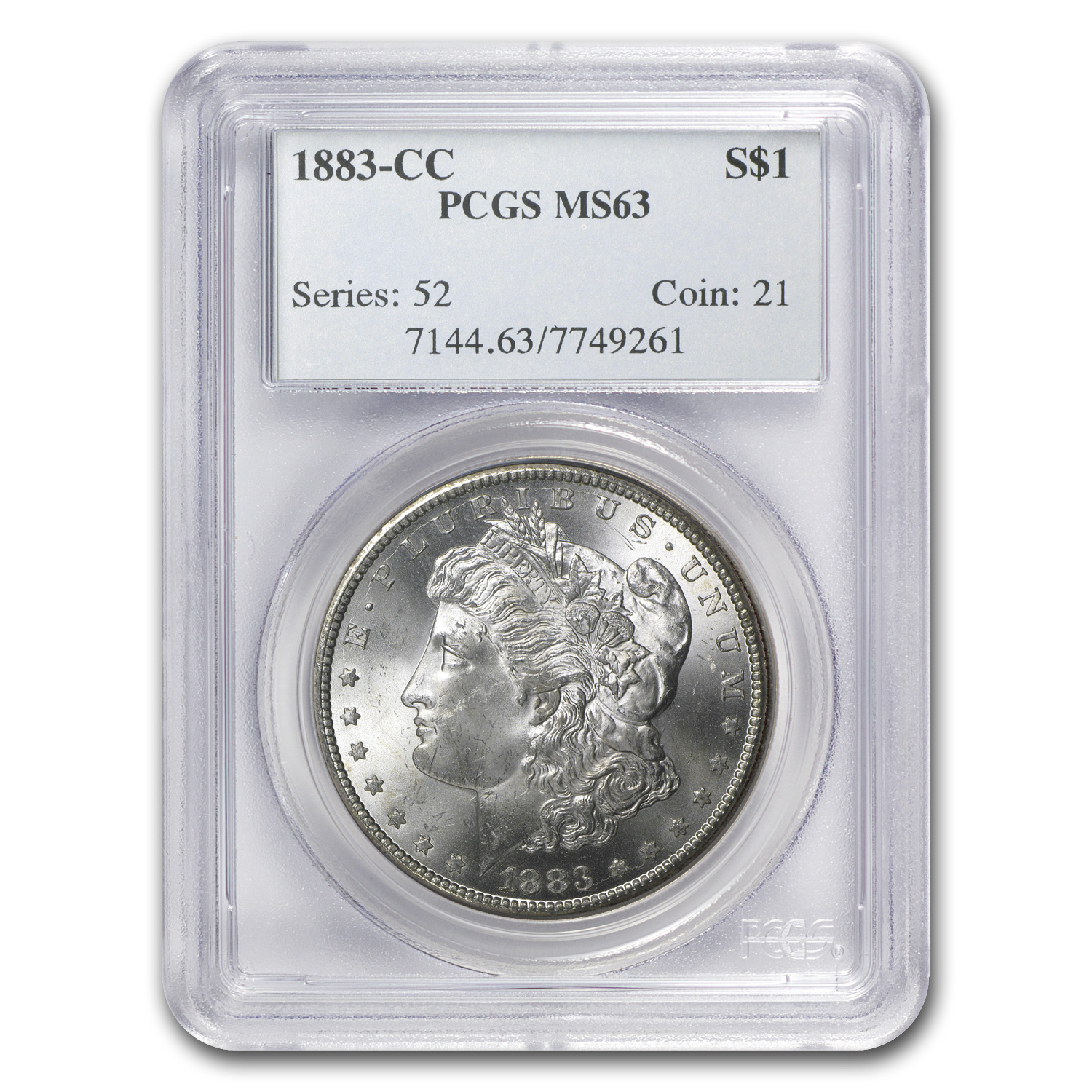 1883-CC Morgan Dollar MS-63 PCGS