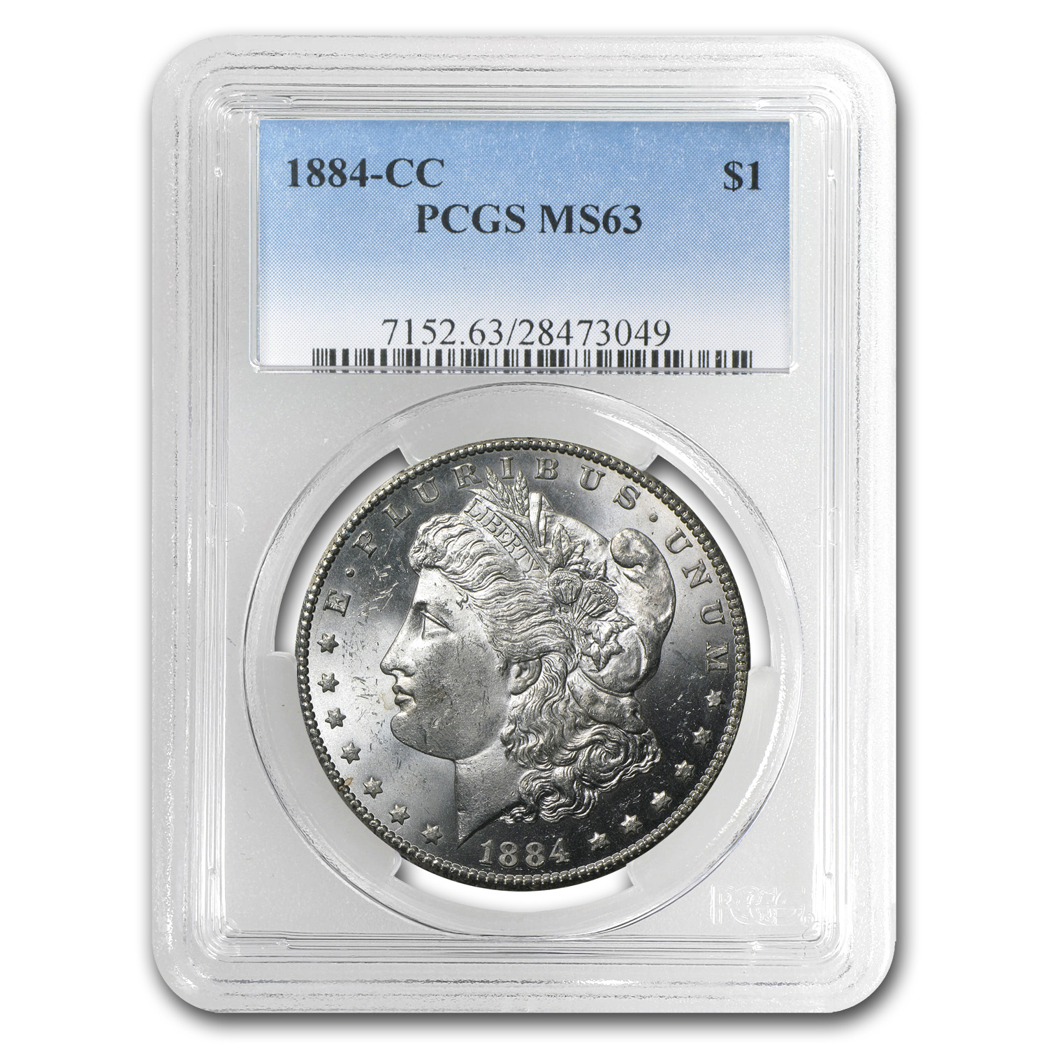 1884-CC Morgan Dollar MS-63 PCGS