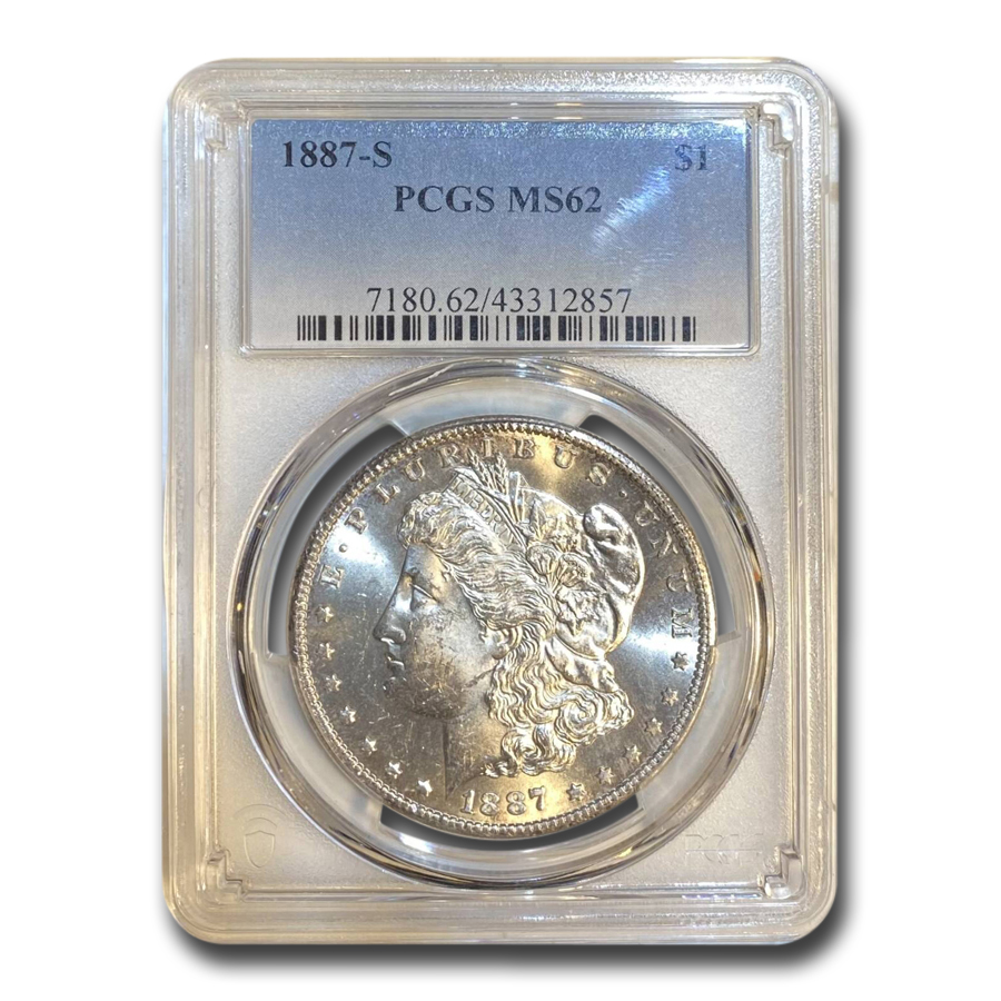 1887-S Morgan Dollar MS-62 PCGS