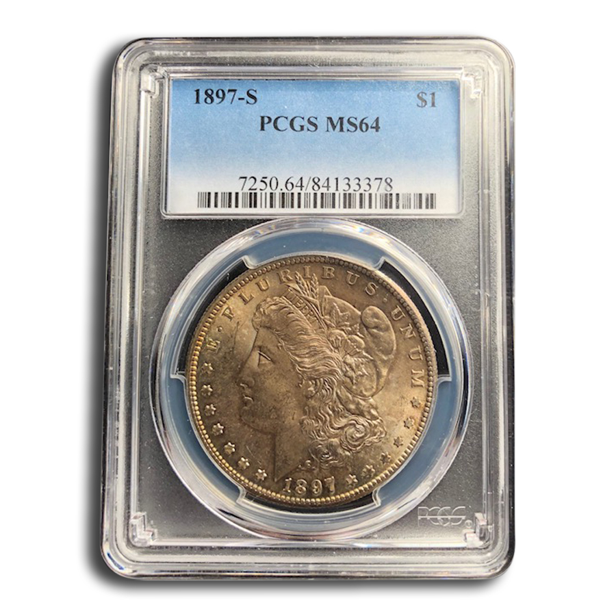1897-S Morgan Dollar MS-64 PCGS