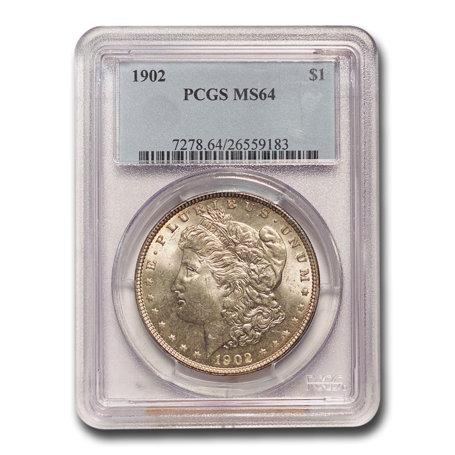 1902 Morgan Dollar MS-64 PCGS