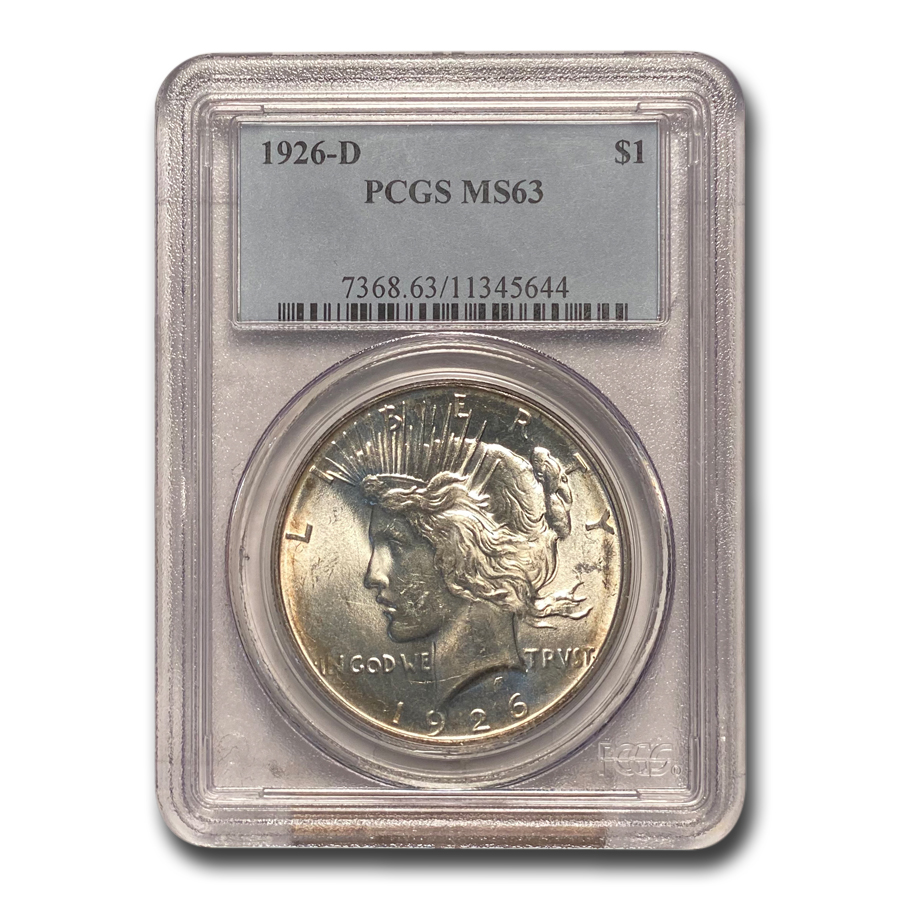 1926-D Peace Dollar MS-63 PCGS