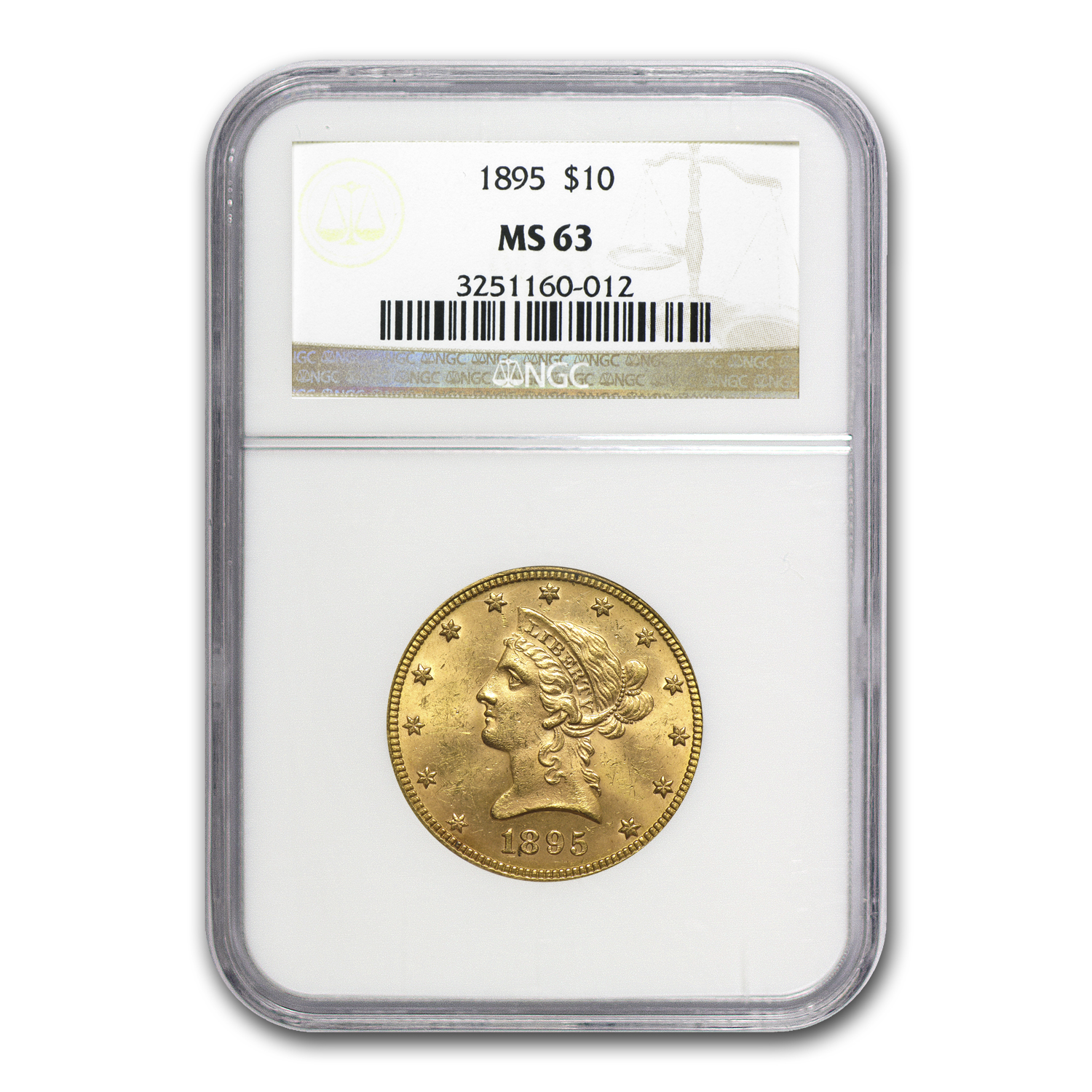1895 $10 Liberty Gold Eagle MS-63 NGC