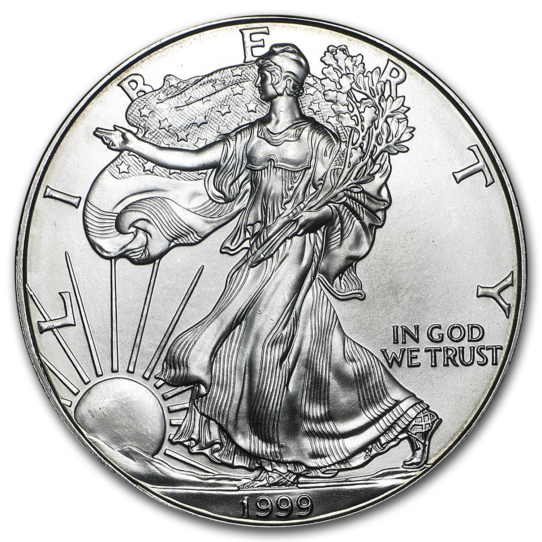 1999 Silver Eagle Coin American Eagle Silver Dollar Apmex