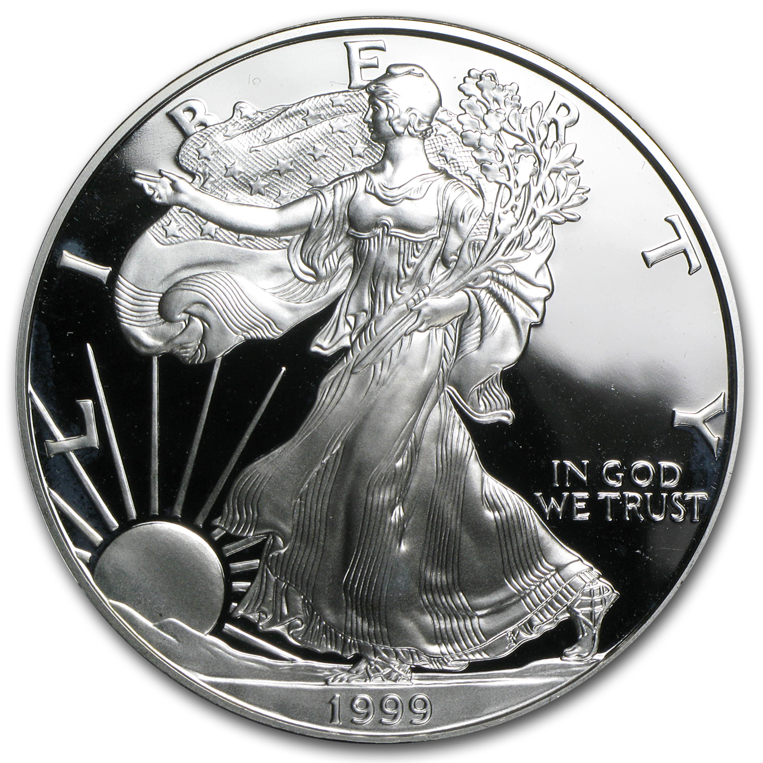 1999-P 1 oz Proof Silver American Eagle (w/Box & CoA)