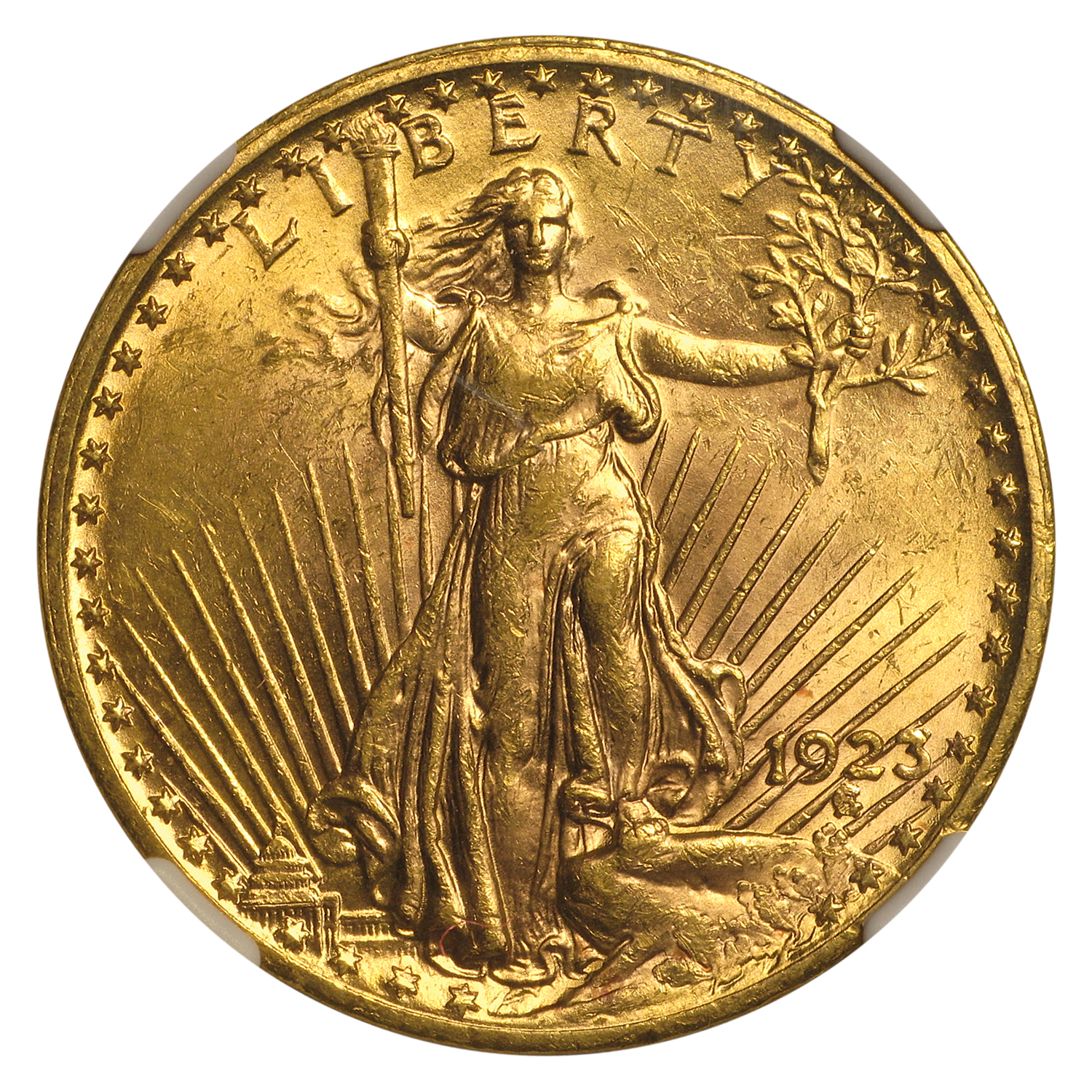 1923 $20 St. Gaudens Gold Double Eagle - MS-62 NGC