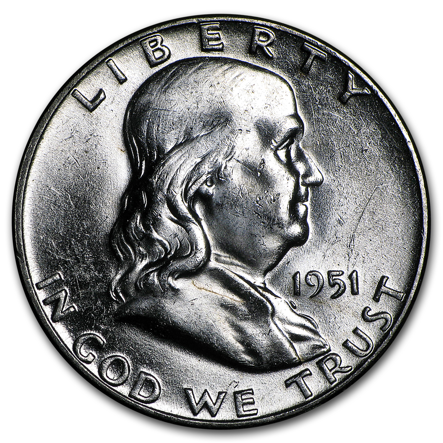 1951 Franklin Half Dollar BU