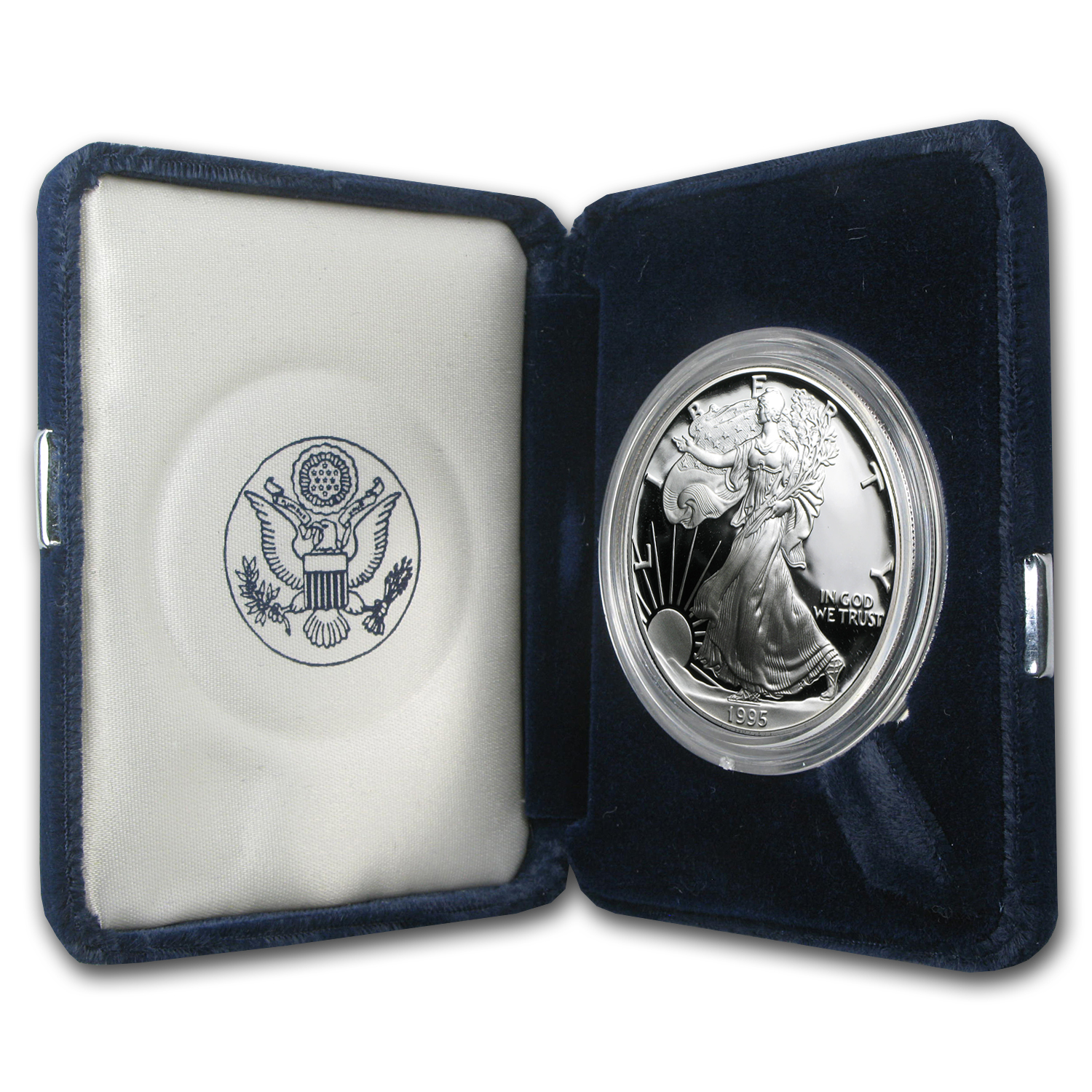 1995-P 1 oz Proof Silver American Eagle (w/Box & COA)