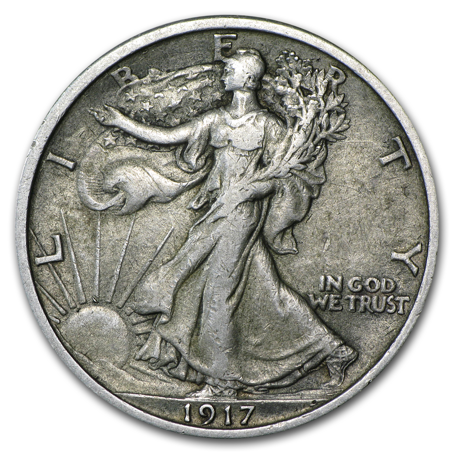 1917 Walking Liberty Half Dollar XF
