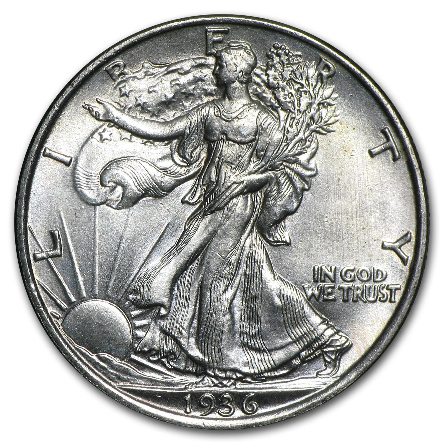 1936 Walking Liberty Half Dollar BU