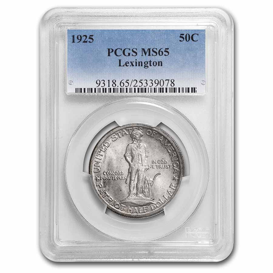 1925 Lexington Concord Sesquicentennial Half Dollar MS-65 PCGS