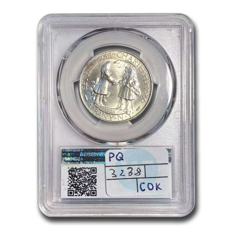1936 Albany, New York Charter Half Dollar MS-66 PCGS