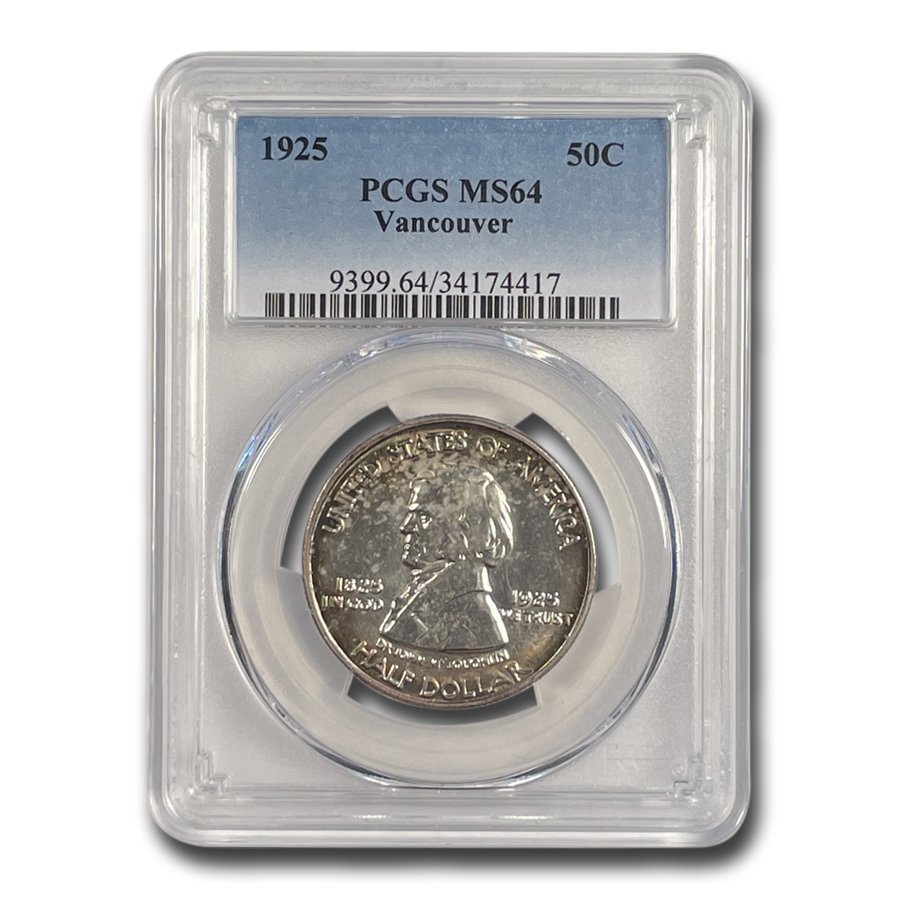 1925 Fort Vancouver Half Dollar MS-64 PCGS