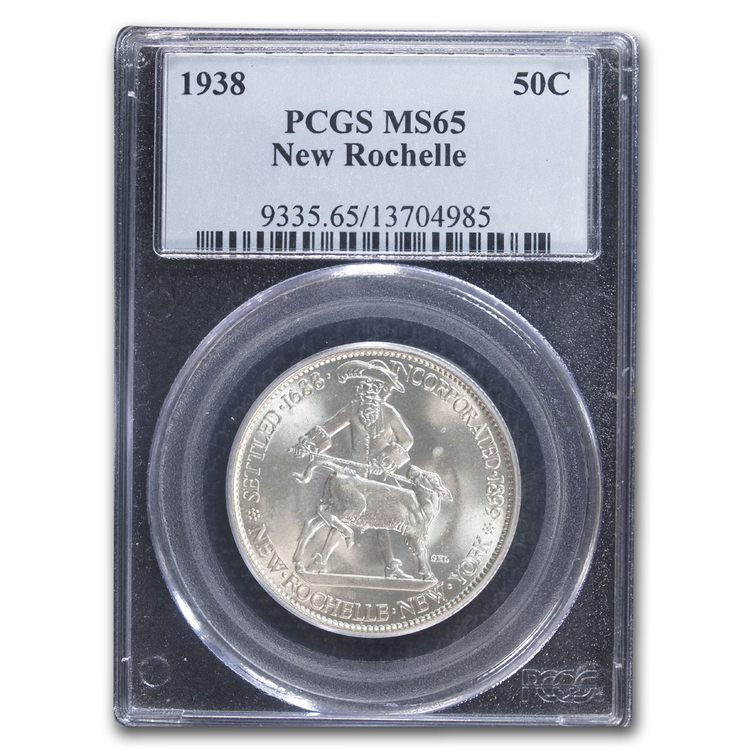 1938 New Rochelle Half 250th Anniversary MS-65 PCGS
