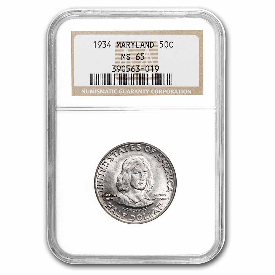 1934 Maryland Tercentenary Half Dollar MS-65 NGC
